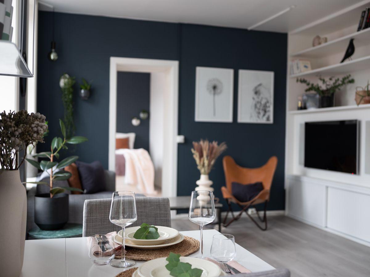Schweigaards gate 99B Kjøkkenet har en åpen løsning mot stuen som er perfekt for sosiale sammenkomster.