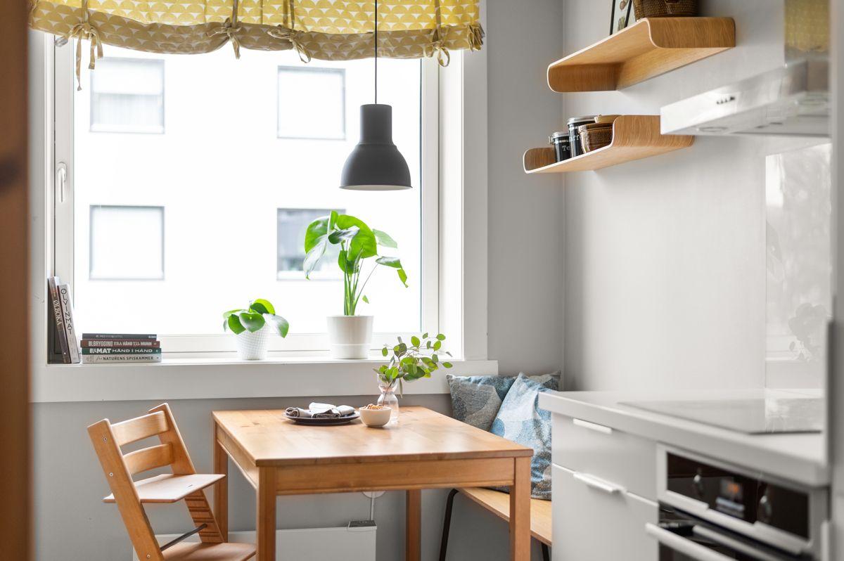 Ålesundgata 3 A Ved vindusflaten har du plass til et spisebord som gjør at også kjøkkenet blir et naturlig oppholdsrom.