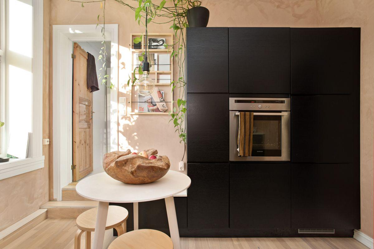Diriks` gate 1B Alle hvitevarer som kjøleskap med frys, komfyr med induksjonstopp og oppvaskmaskin er integrert og medfølger salget