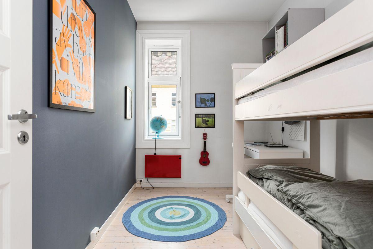Erika Nissens gate 7 På soverommene har du plass til seng, kontorpult og garderobeløsninger etter eget ønske og behov.