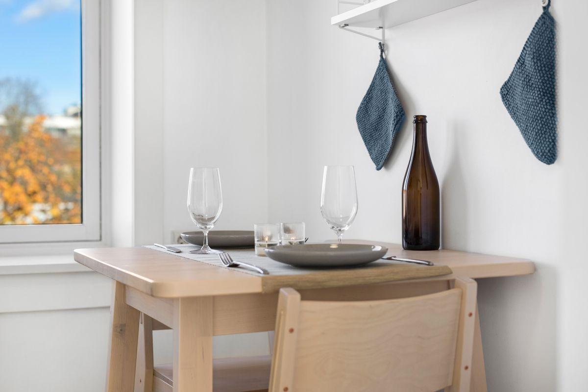 Hans Barliens gate 1F Hyggelig sitteplass på kjøkkenet