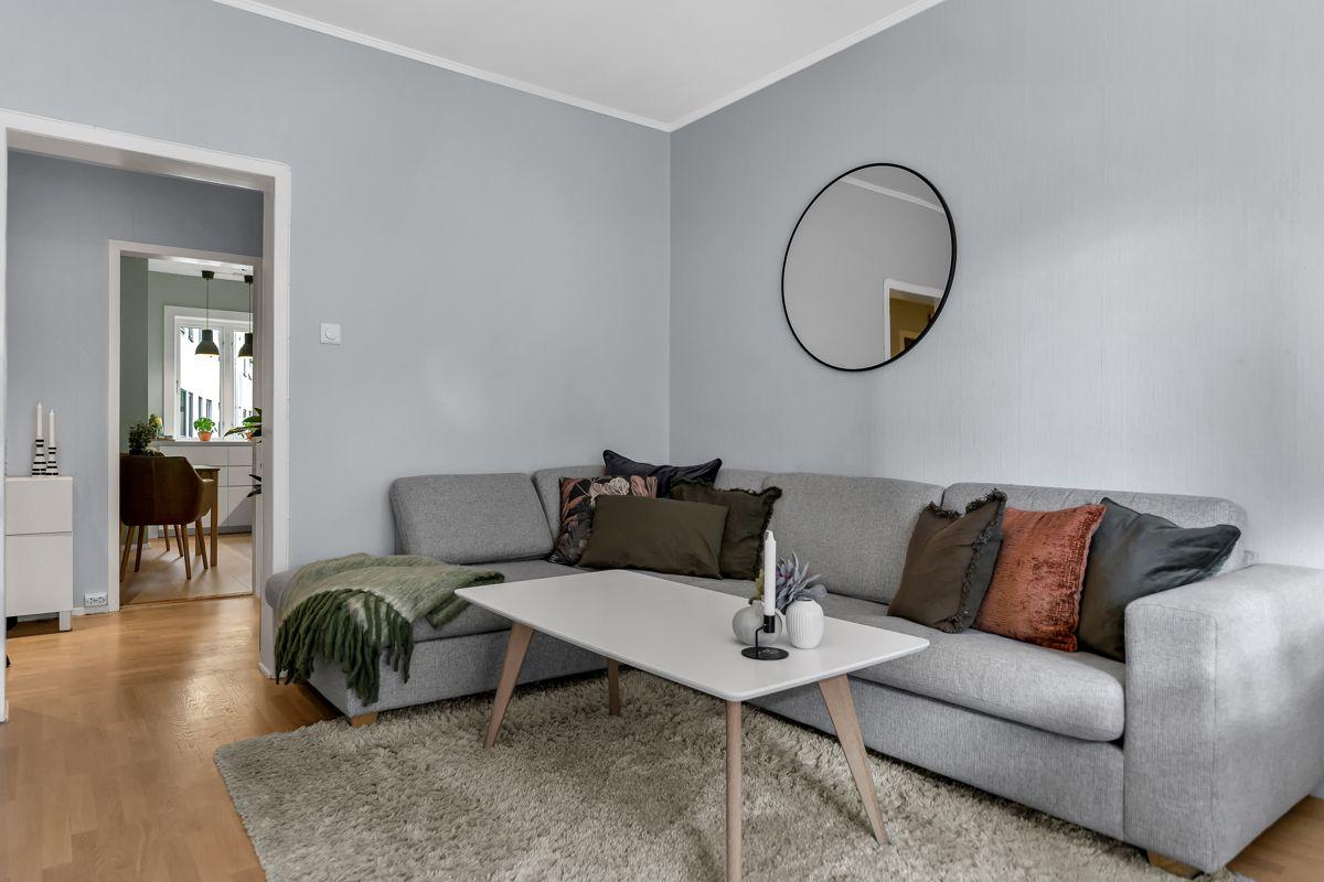 Claus Riis' gate 4 Gjennomgående og arealeffektiv planløsning med god størrelse på alle rom.