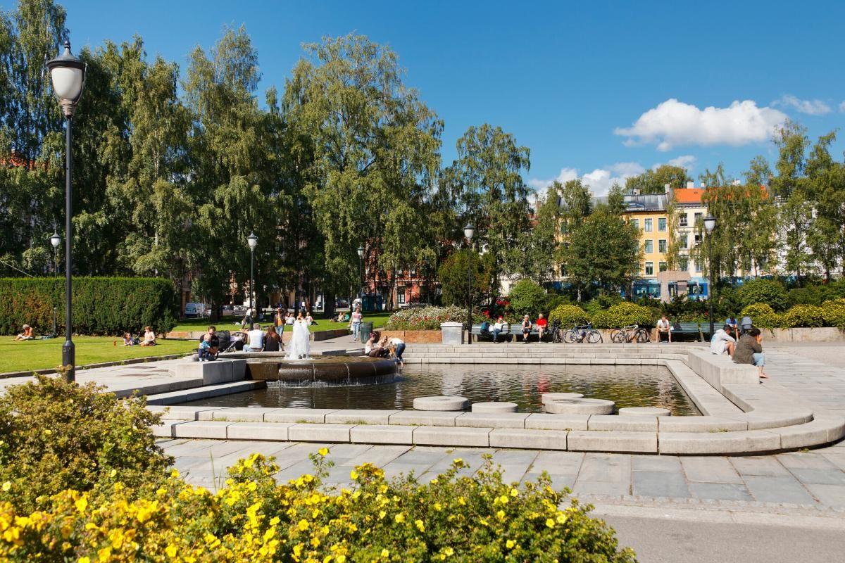 Seilduksgata 2 B - Birkelunden hvor det ofte arrangeres bruktmarked på søndager -
