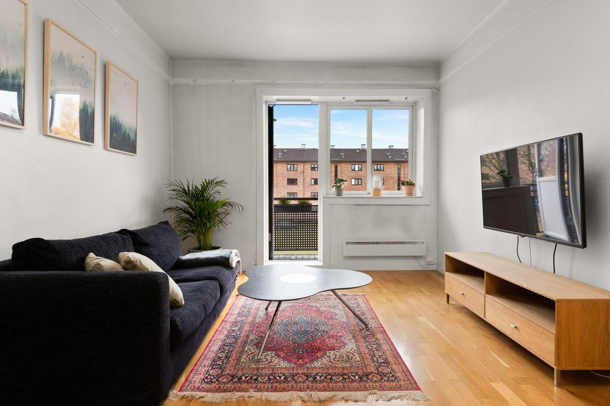 Telemarksvingen 4 - Svært lys, luftig og tiltalende 2-roms beliggende flott til i byggets 2. etasje -