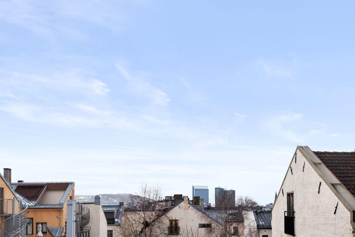 Grüners gate 7 - Flott utsikt fra terrassen -