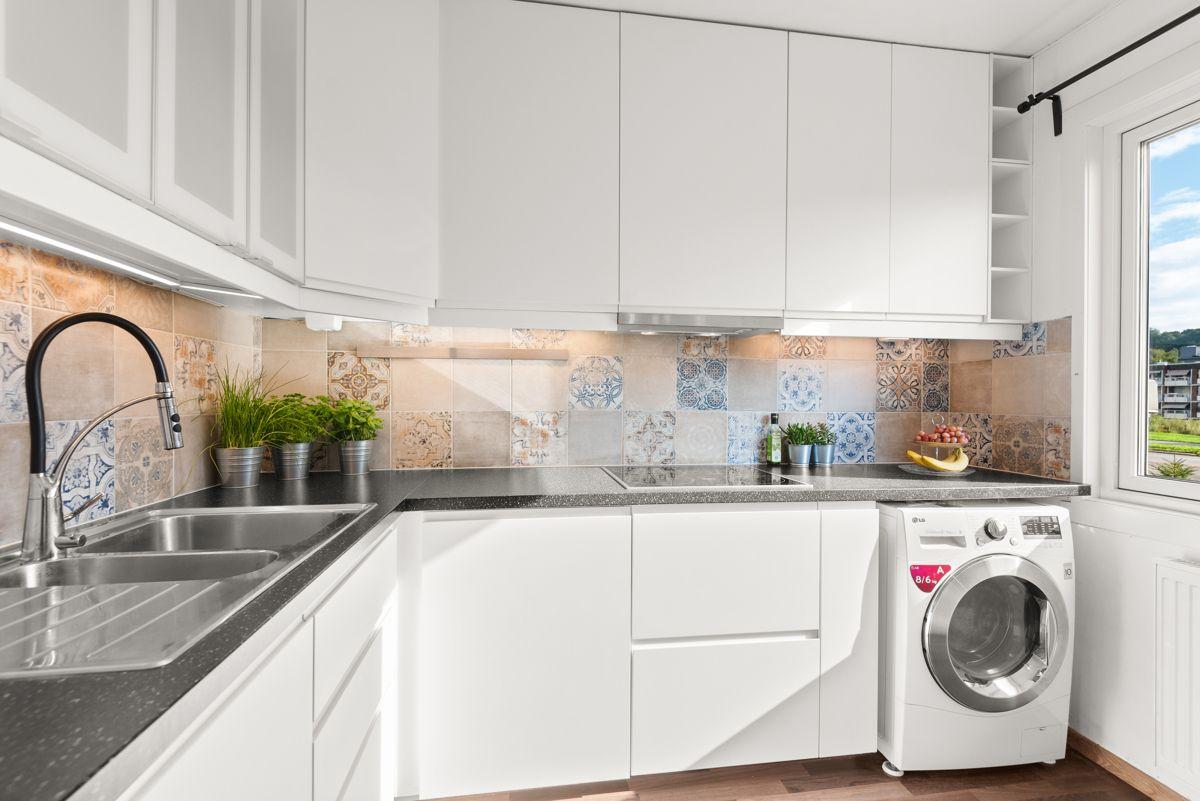 Brobekkveien 37 Opplegg til vaskemaskin på kjøkken