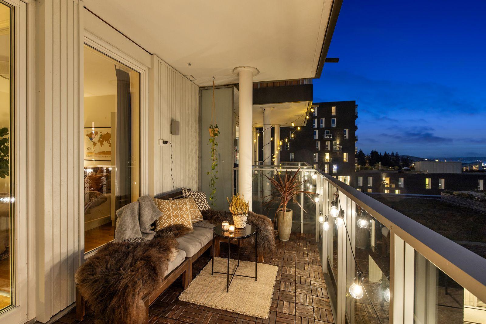 Hans Nielsen Hauges gate 37 F Velkommen ut til leilighetens herlige balkong.