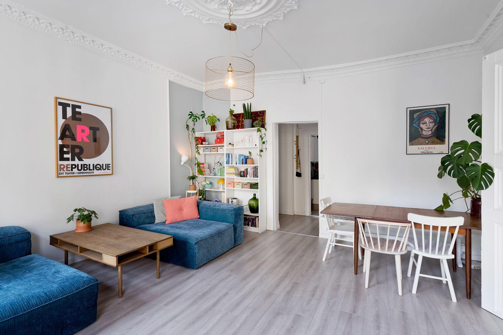 Bernt Ankers gate 31 Stuen har gode innredningsmuligheter med god plass til stort spise- og sofamøblement