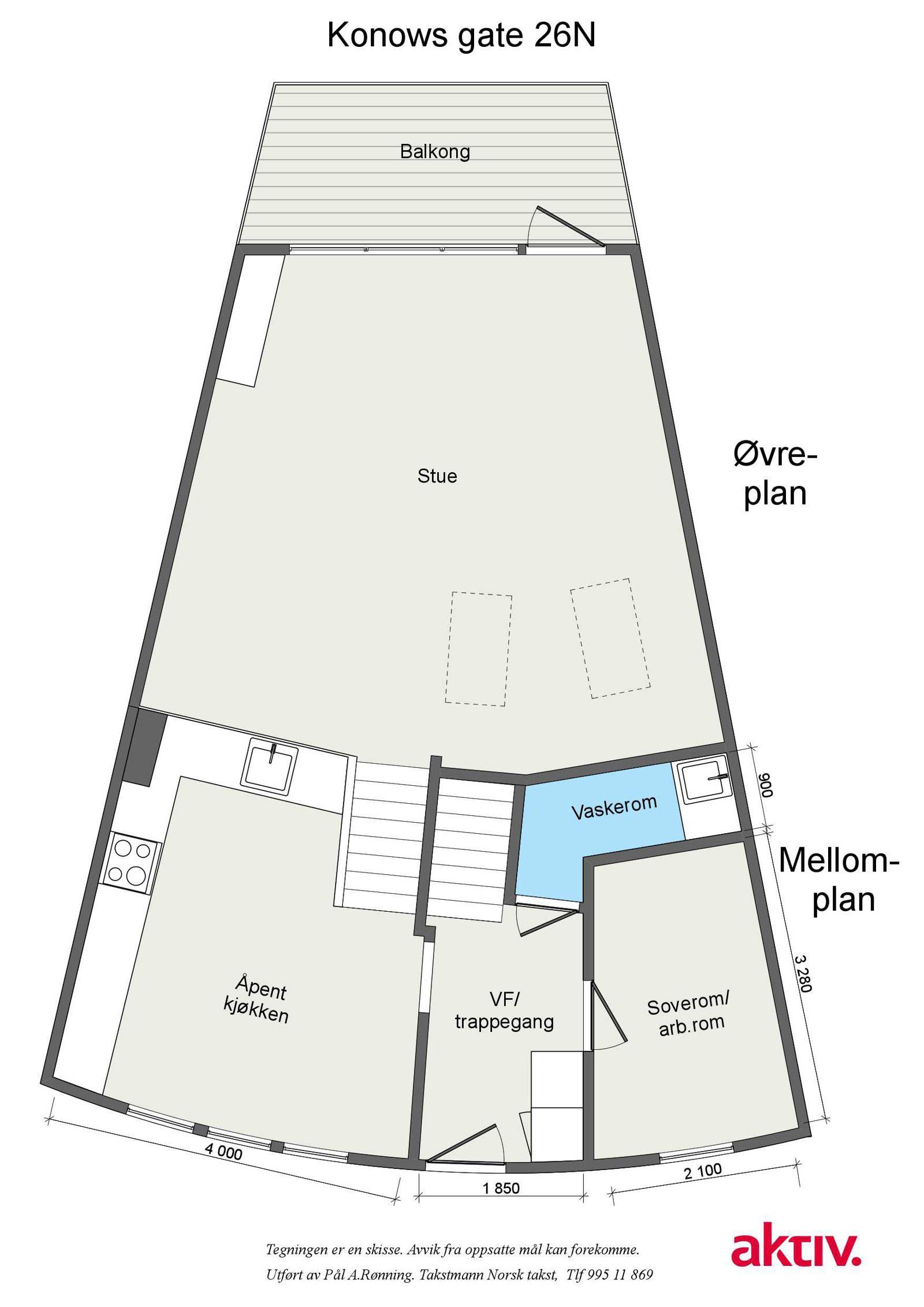Konows gate 26N Plantegning - Plan 1.