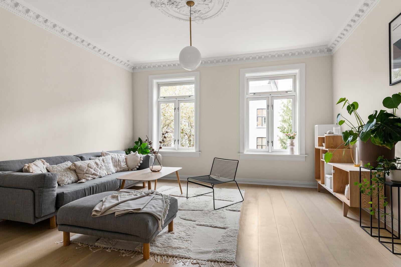 Paulus' plass 3 B En stor, lys og skikkelig fin 3-roms selveierleilighet med gjennomgående høy standard fra 2017.