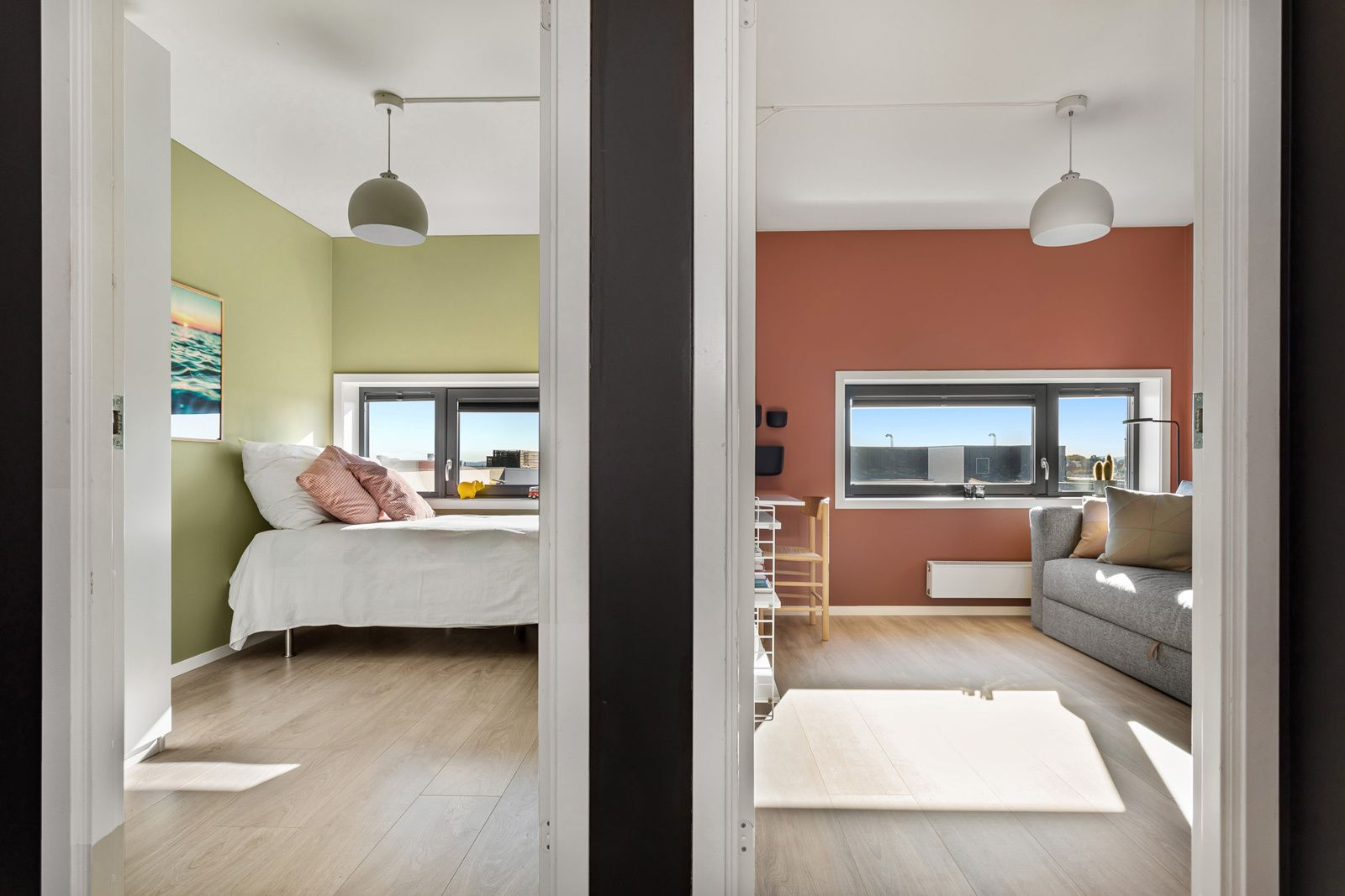 Sandakerveien 22 H Det tredje soverommet er også et lyst og fint rom som passer perfekt som barnerom, gjesterom eller kontor.