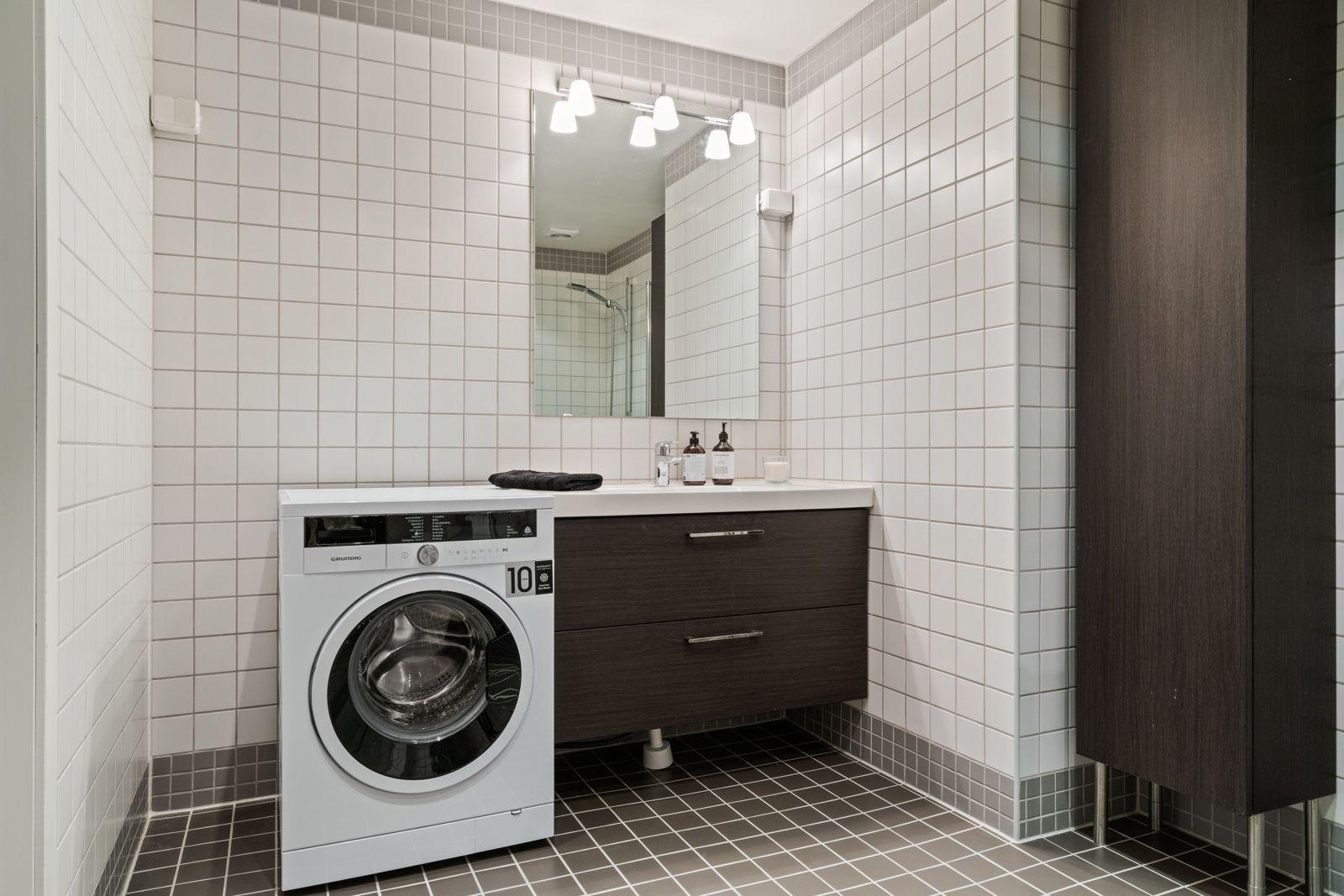Teglverksgata 11 Det er opplegg til vaskemaskin på bad.