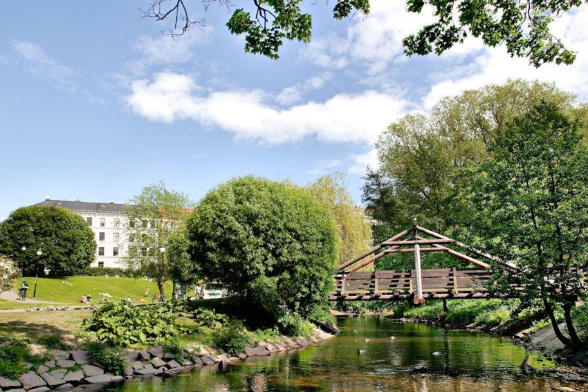 Teglverksgata 11 Fine turmuligheter langs Akerselva som strekker seg fra Maridalsvannet i nord til sentrum i sør.