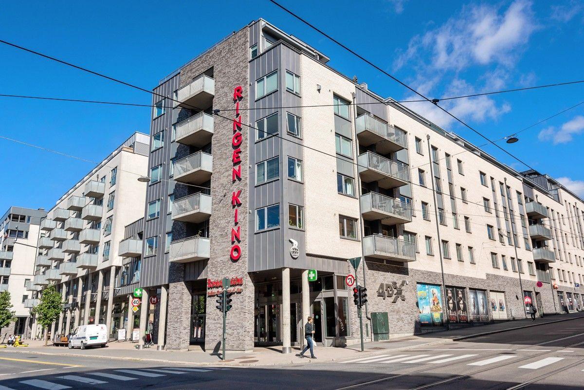 Sannergata 5C Kort vei bort til Ringnes park med stor Meny-butikk, treningssenter (Sats), apotek, kino mm.