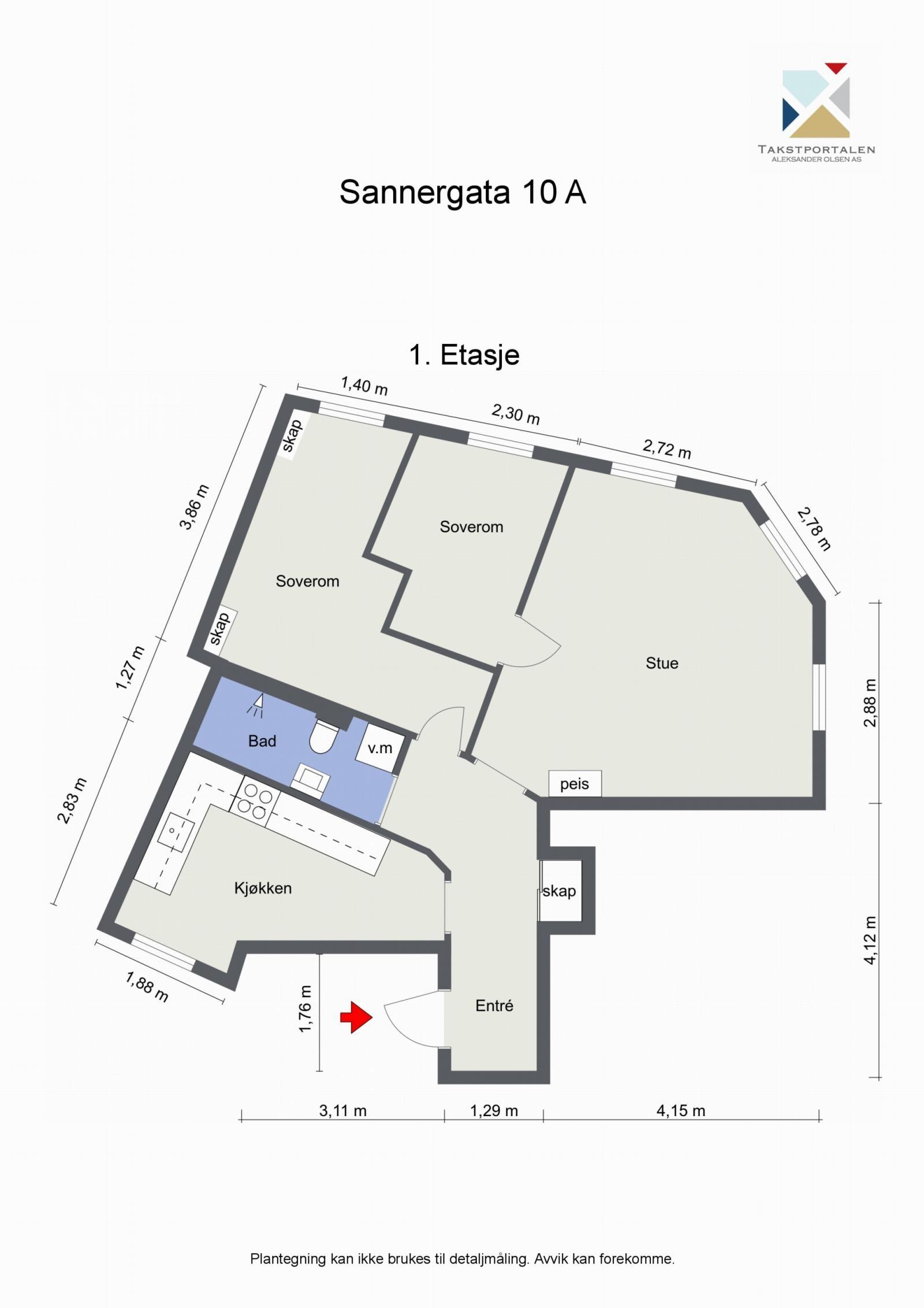 Sannergata 10 Planskisse