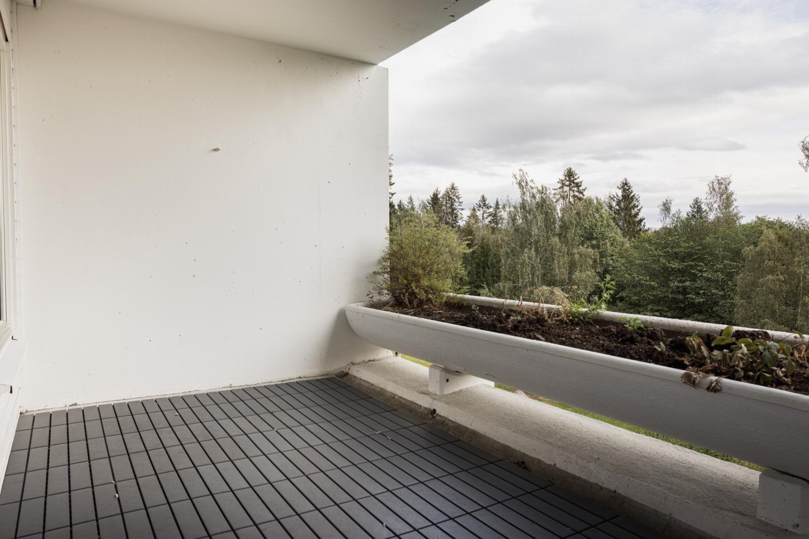 Morgedalsvegen 43 Stor terrasse på 8 kvm med hyggelig utsyn