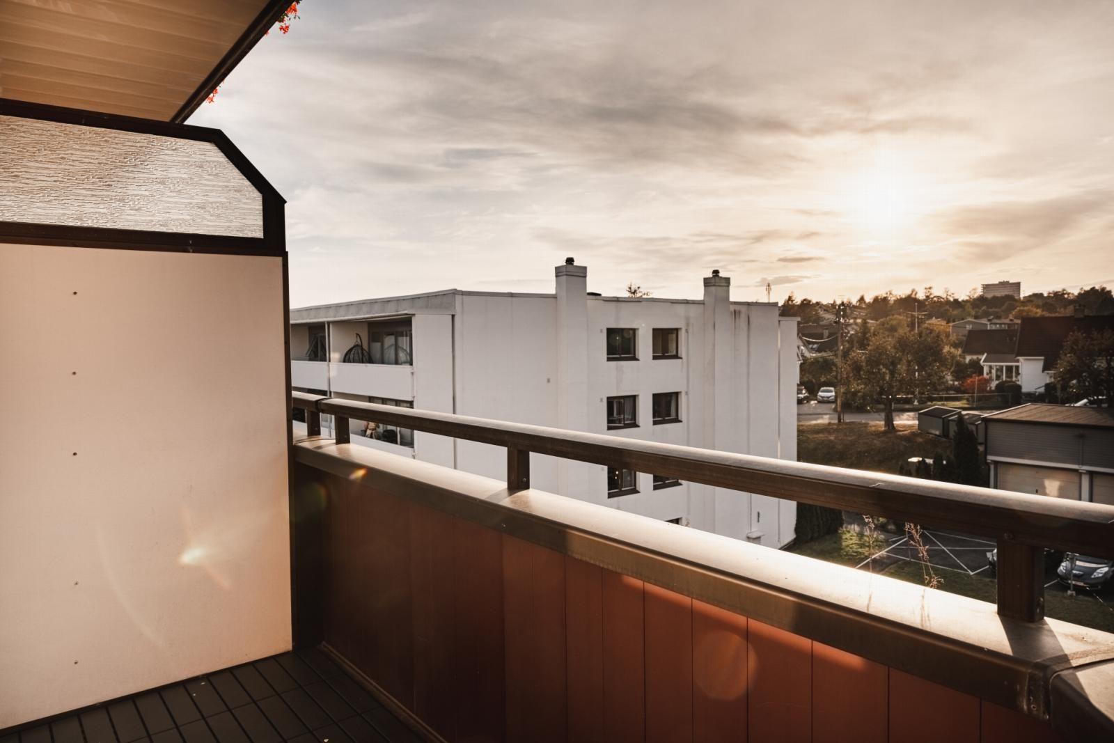Lunden 9 A Vestvendt balkong på 4 kvm med gode solforhold